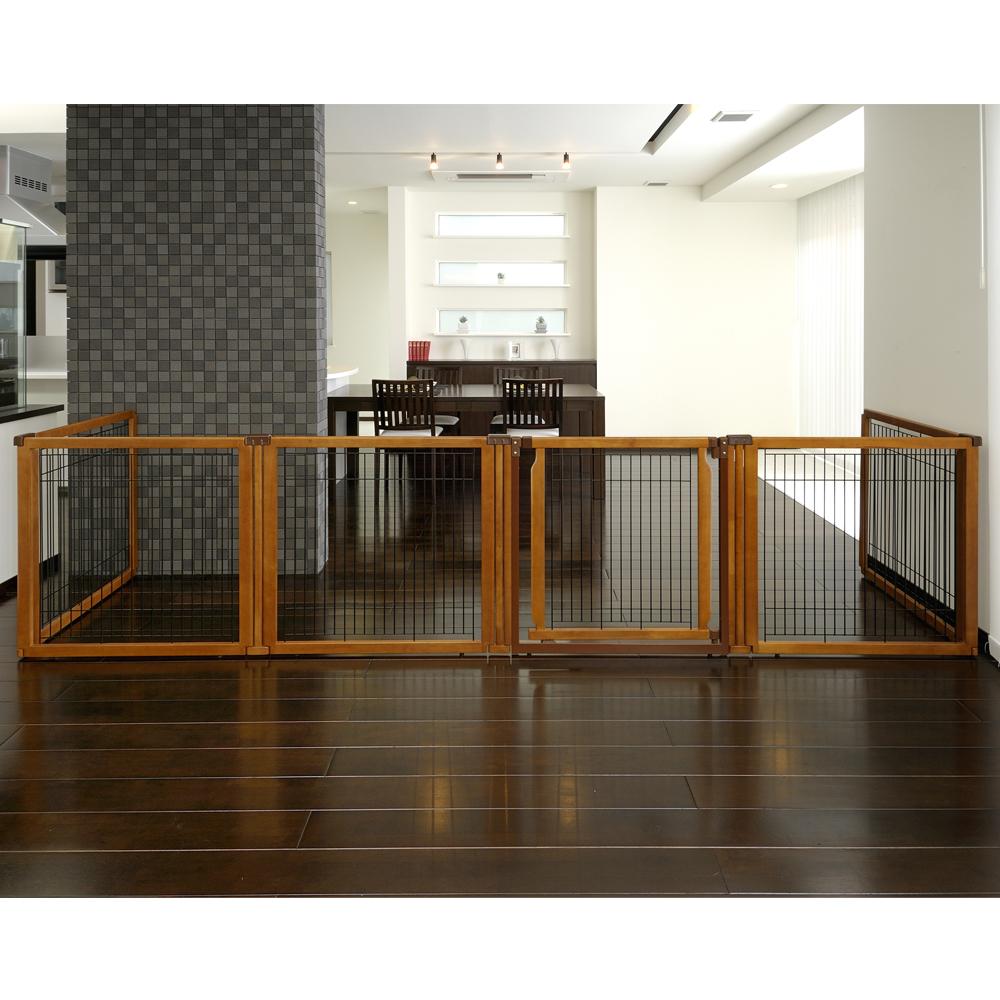 Convertible Elite Pet Gate 6 Panel Richell Usa Inc