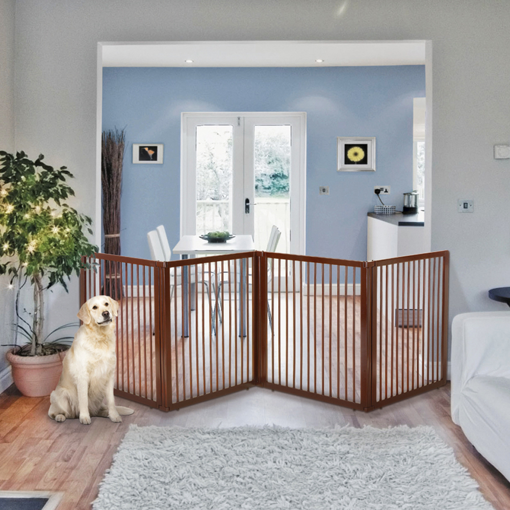 wooden room divider, dog gates - richell usa, inc