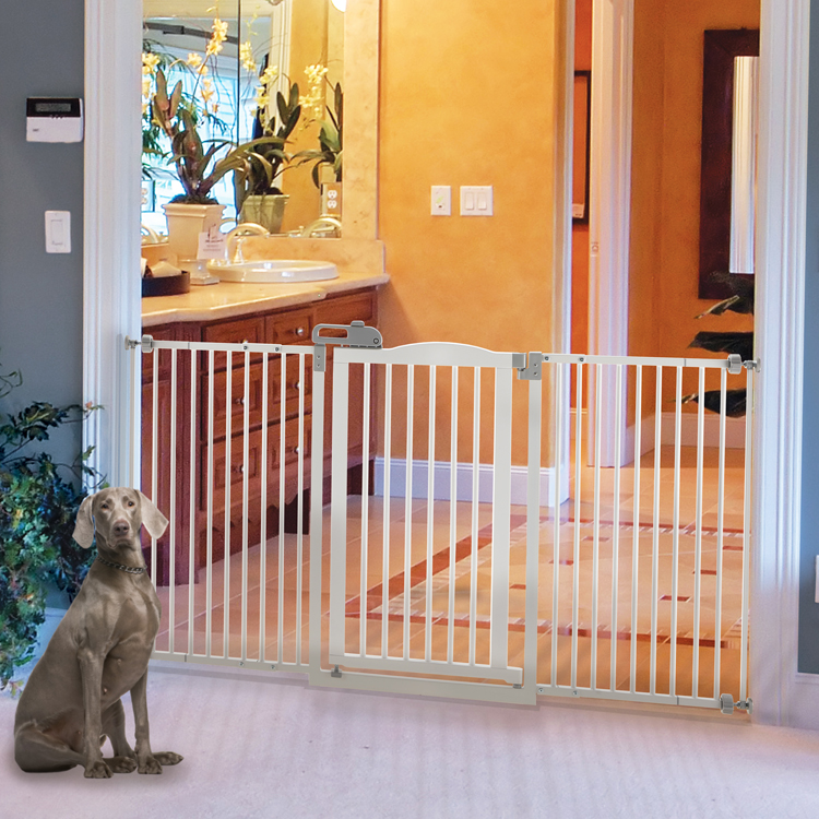 the gate also includes rubber stoppers to protect your walldoorway surface from scratches and unsightly marks once installed you can enjoy your new pet