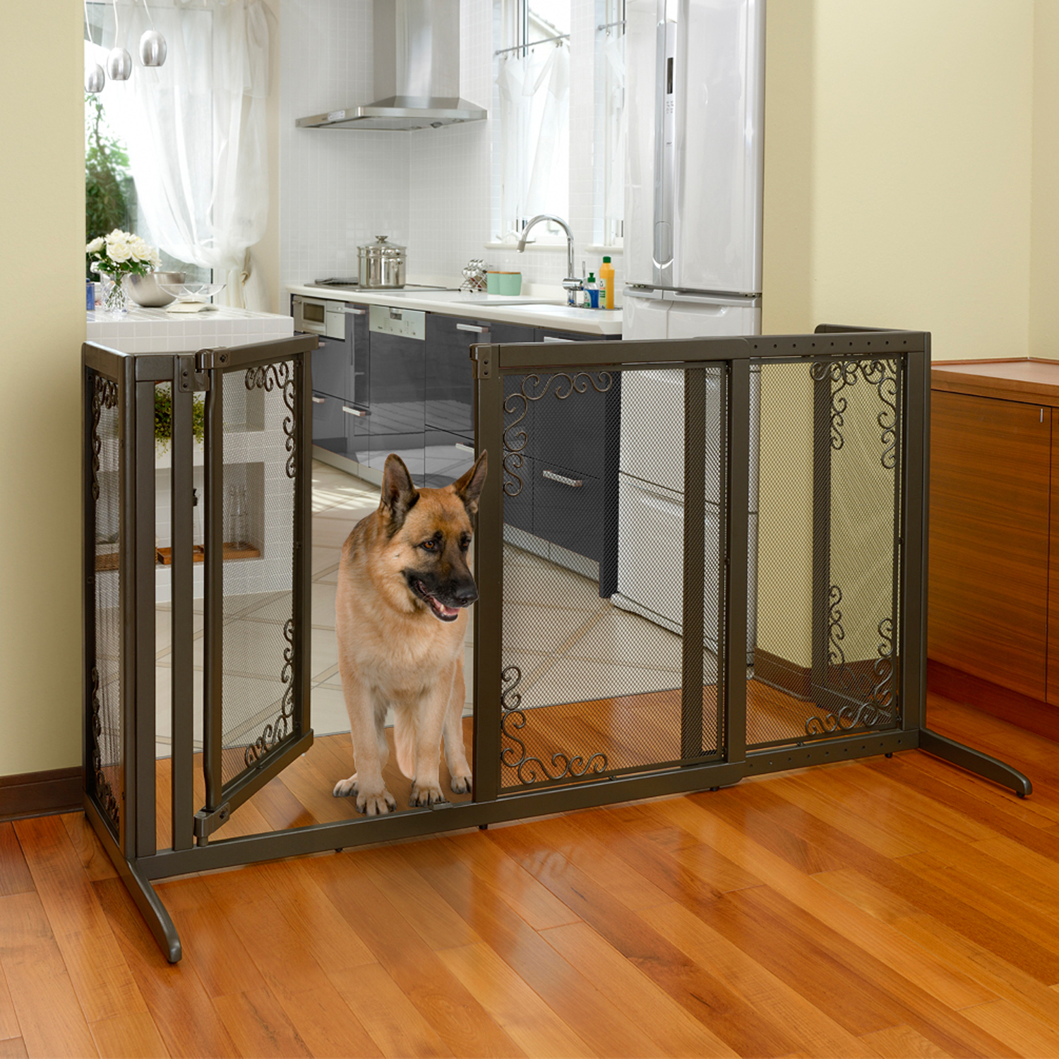 Free Standing Gate For Large Dogs