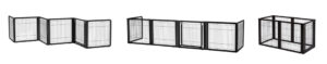 Convertible 6-Panel Pet Gate