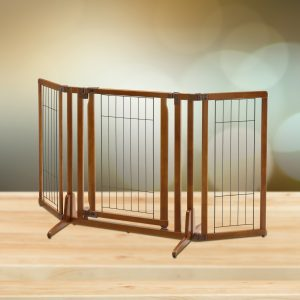Premium Plus Pet Gate in Brown