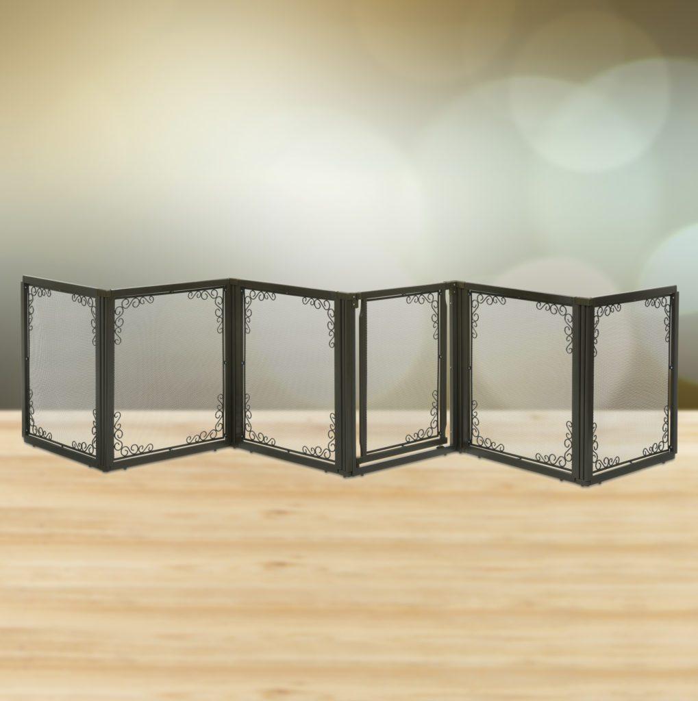 Convertible Elite Mesh Panel Dog Gates Wooden Pet Gate Crate