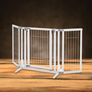 Premium Plus Pet Gate in White