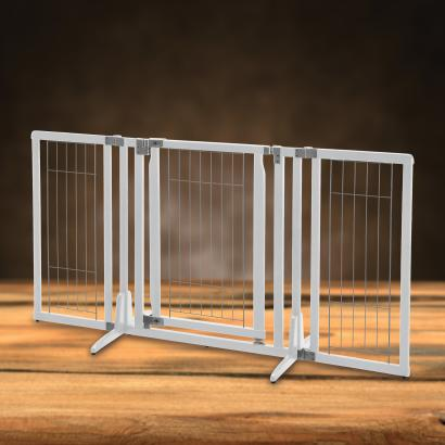 Freestanding Dog Gates Freestanding P Plus Origami White