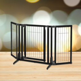 Premium Plus Pet Gate in Black