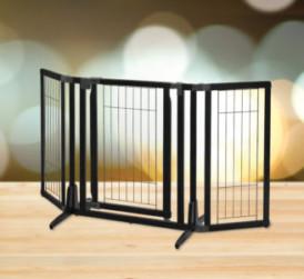 Premium Plus Pet Gate in Black