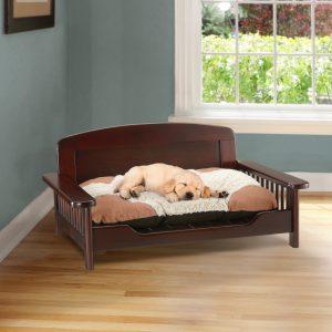 Elegant Wooden Pet Bed