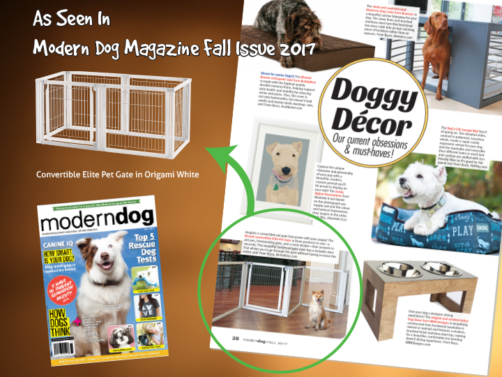 As Seen In Modern Dog Magazine - Richell USA Pet Gates