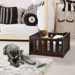 Elegant Wooden Pet Toy Box