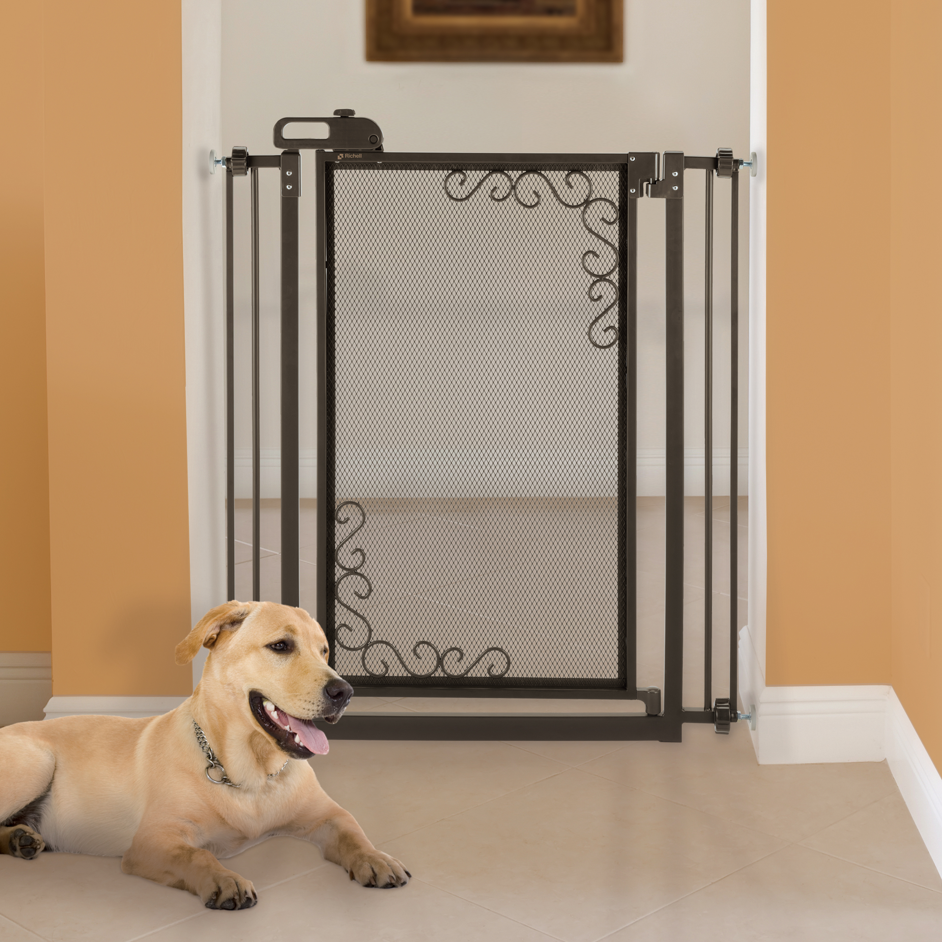 Tall One Touch Metal Mesh Dog Gates Tall Dog Gate